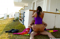 A perfect butt of a hot brunette pounded deeply in all holes